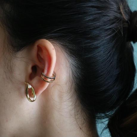 """"""" α """" gold  pierce/earring"""