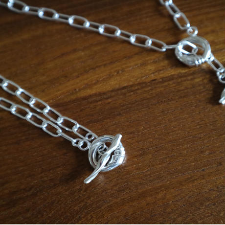 Paw silver necklace chain original-type(80cm) #007N-801