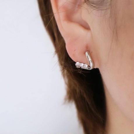 【nikori】 v silver pierce/ earring