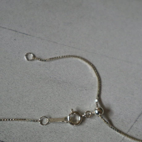 threepearl circle  necklace   silver