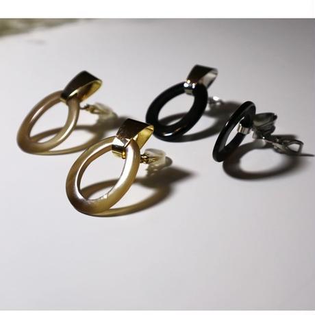 hook _ black pierce / earring