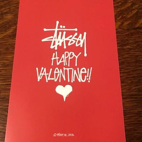 【非売品】STUSSYポストカード 2006 バレンタイン