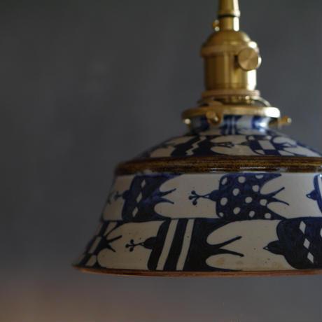 染付 ランプシェード / ツバメ