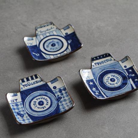 染付 カメラ豆皿 / C 星