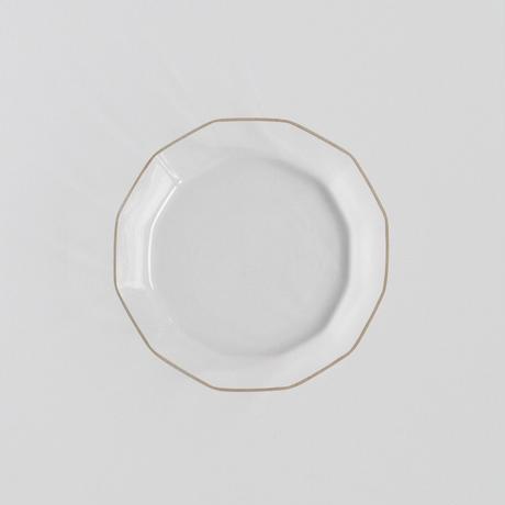金縁 十二角浅皿