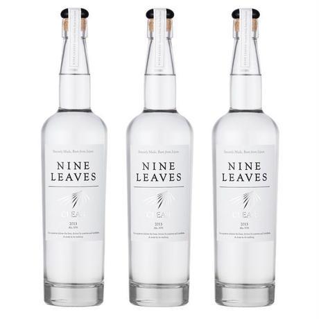 【送料無料】国産ラム酒 NINE LEAVES CLEAR (ナインリーヴズ クリア)ラム 3本セット