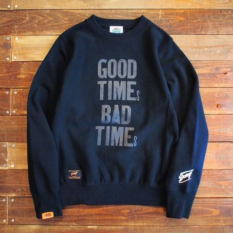 "【DARGO × NINE LETTER PRESS】 ""GOOD TIMES, BAD TIMES"" Heavy Weight Crew Sweat"