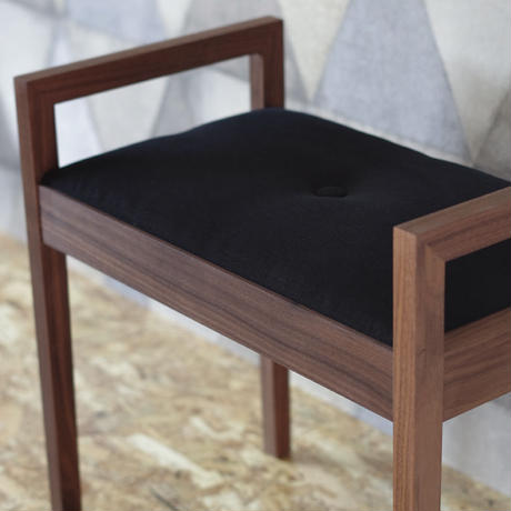 Romi Stool (Walnut+Black)