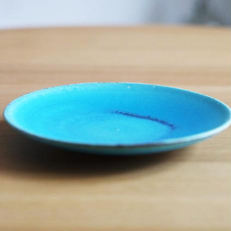 信楽焼 皿A(M)トルコブルー