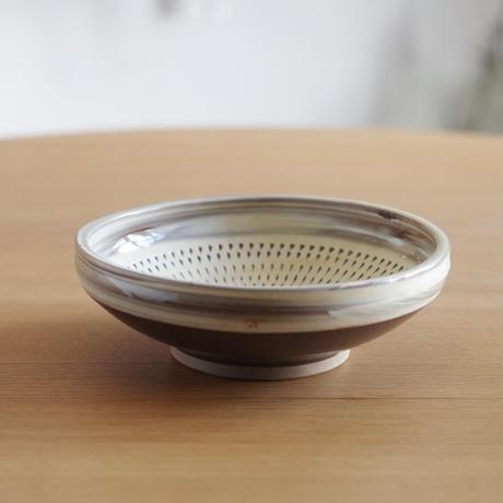 小鹿田焼(柳瀬晴夫窯) 6寸切り立ち皿