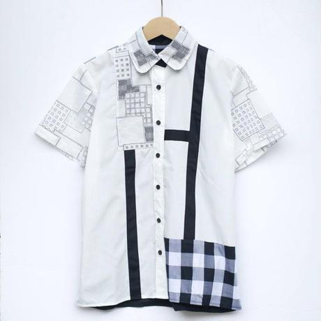 透けさん角さんシャツ