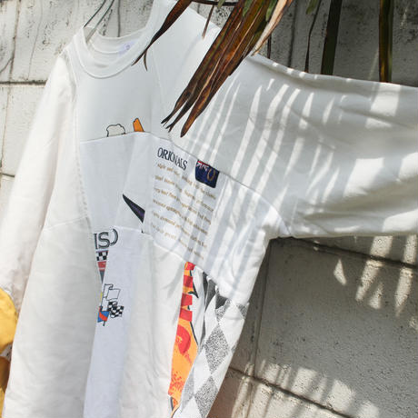 """つぎはぎのオリンピック 2.0"" Olympic Dress of rebuilded from vintage sweatshirts"