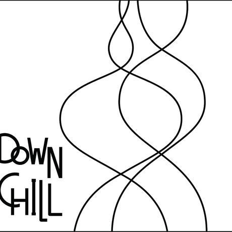 DOWNCHILL カッティングステッカー / WHITE