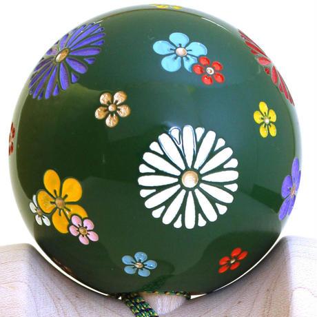 【New】日本の職人が最高の技を施した木製けん玉「錦玉〜梅小紋(うめこもん)緑〜」