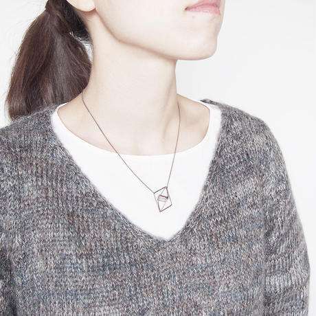 square necklace/antique