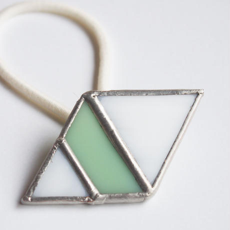hair accessory rhombus/white×light green