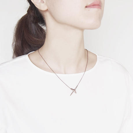 right angle necklace/antique