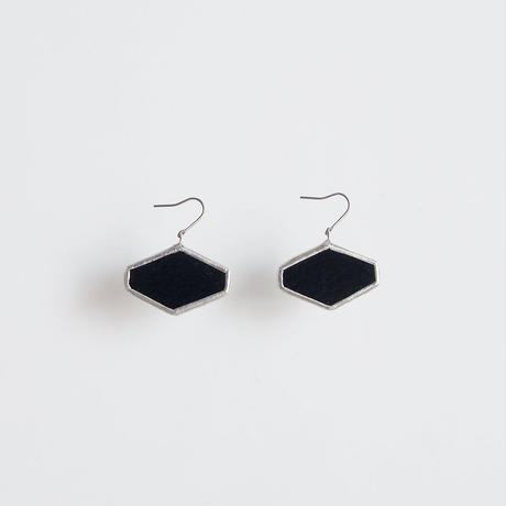 hexagon pierce / black