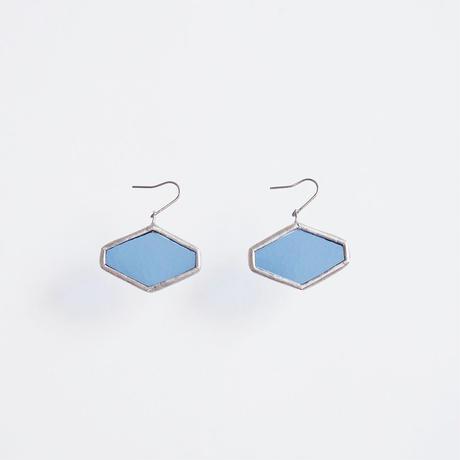hexagon pierce/light blue