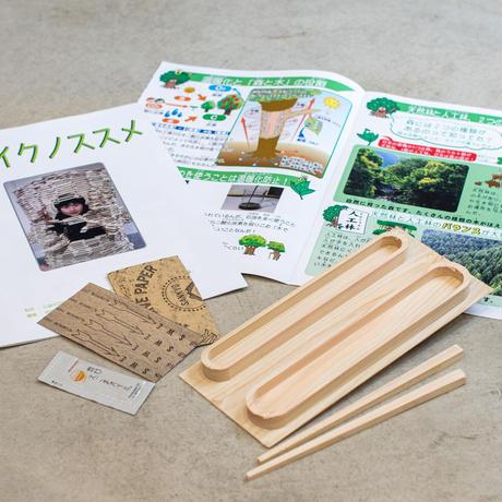 「木育」×「食育」 宮崎県産ヒノキ マイ箸手作りキット 自由研究に