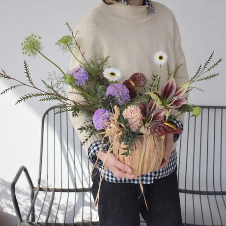 fresh flower arrangement 宅配便