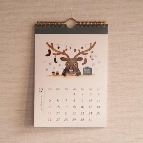 ニヤットカレンダー2021(A5壁掛けタイプ)
