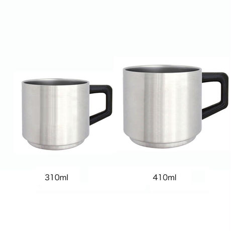 真空ステンレスマグカップ AY013-410S|ステンレス地色|410ml (24個セット)