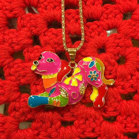 Colorful Necklace Dog A