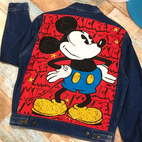 Mickey Mouse Denim Jacket Blue