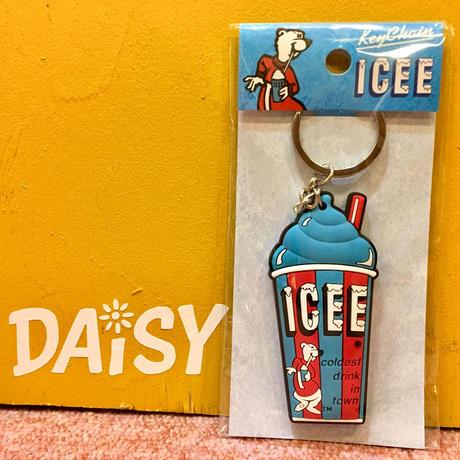 ICEE Rubber Keychain Blue