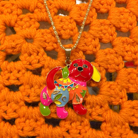 Colorful Necklace Dog C
