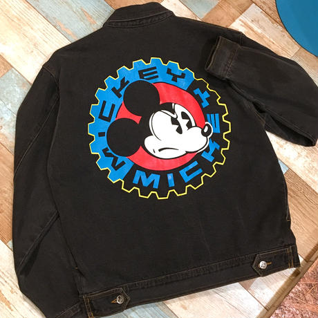 Mickey Mouse Denim Jacket Black