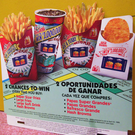 McDonald's Board MONOPOLY  Ⓑ