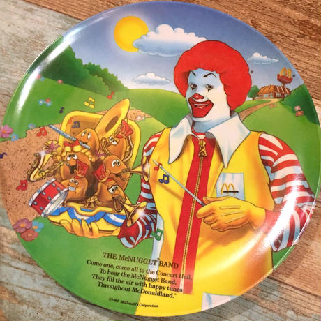 """McDonald's Plastic Plate """"The McNugget Band"""""""