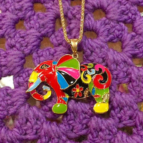 Colorful Necklace Elephant