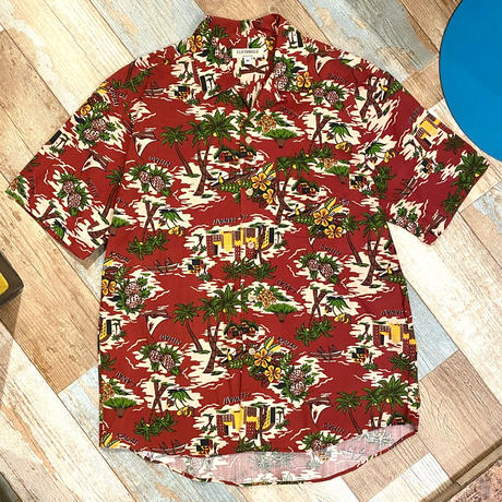Aloha Shirt Wine red