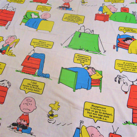 Peanuts Box Sheet Bed time