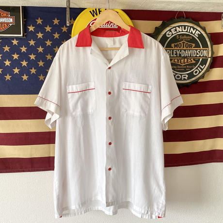 Red×White  Bowling Shirt