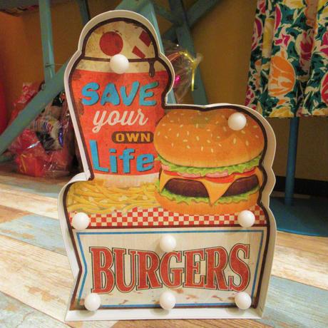 Burgers Sign Light