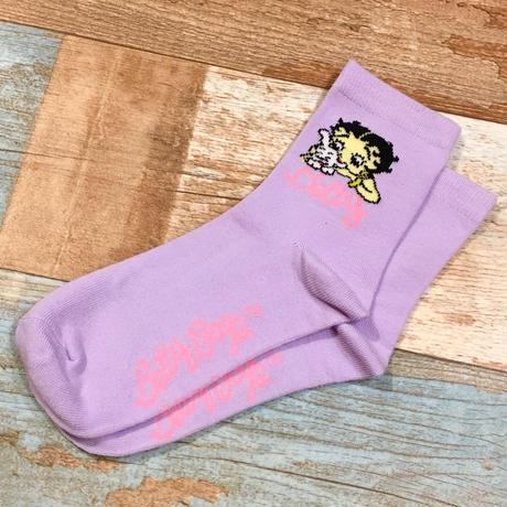 Betty Boop Socks Purple