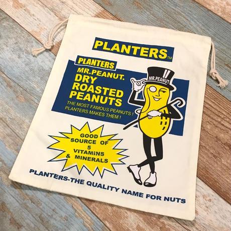Planters Mr.Peanut Drawstring Bag