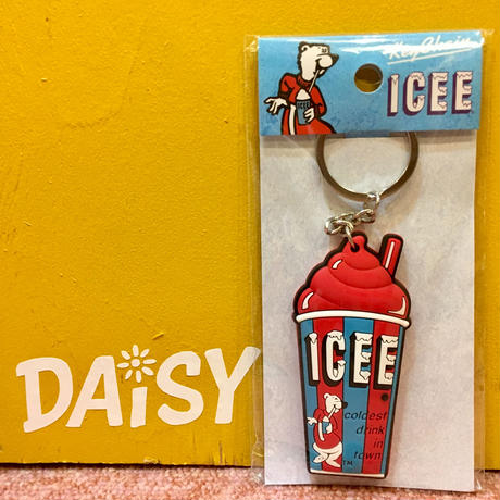 ICEE Rubber Keychain Red