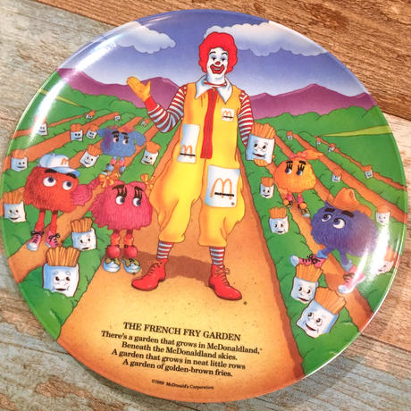 """McDonald's Plastic Plate """"The French Fry Garden"""""""
