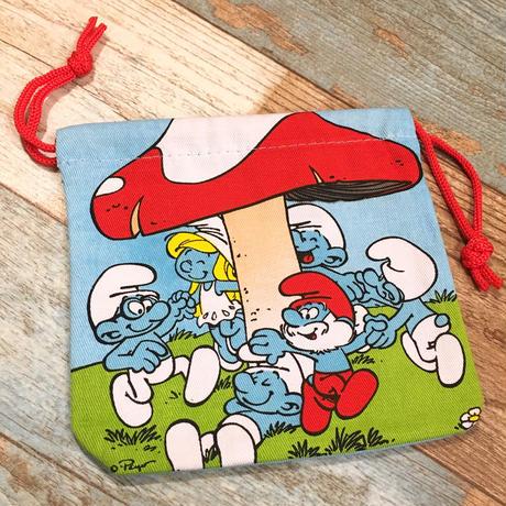Smurf Blue Drawstring Bag
