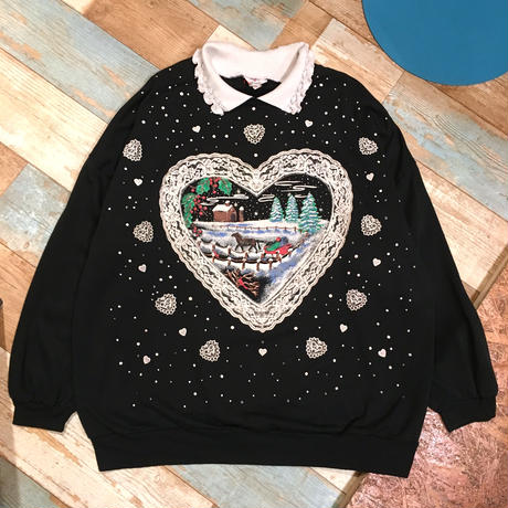X'mas Heart Sweat Black