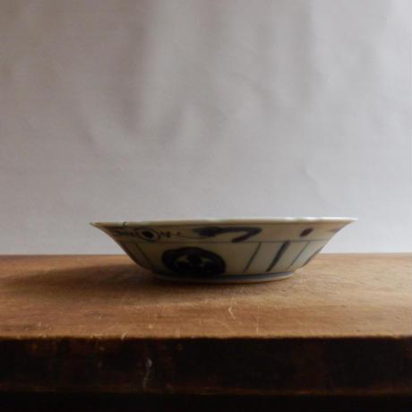 NA141 中国古染付 草文皿