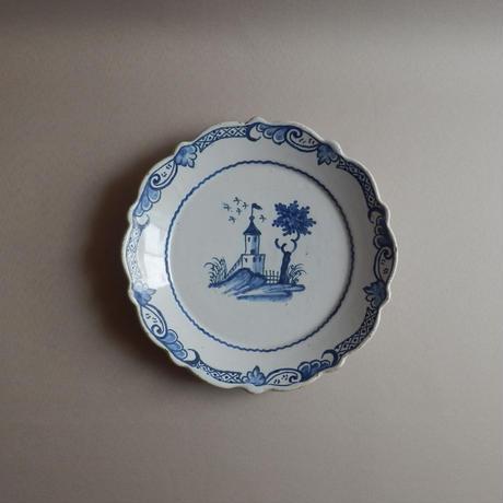 NA199 1700年代 ロンドンデルフトの皿