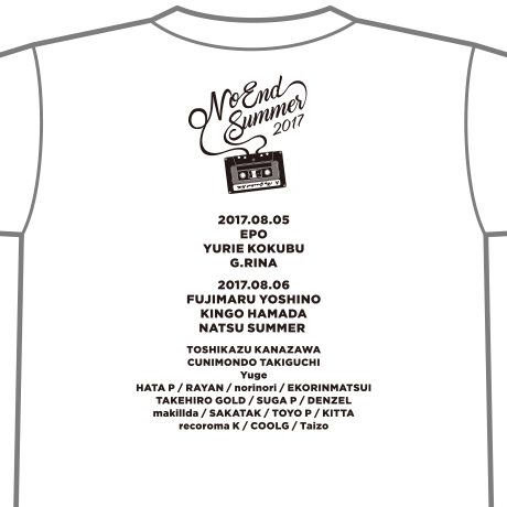 NO END SUMMER Tシャツ
