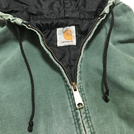 1980's CARHARTT active jacket   色褪せグリーン   実寸(L )