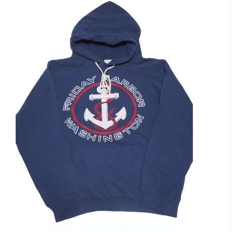 1980's〜 USA製 sweat hoodie  (なんともかわいい イカリ柄) 表記(M)